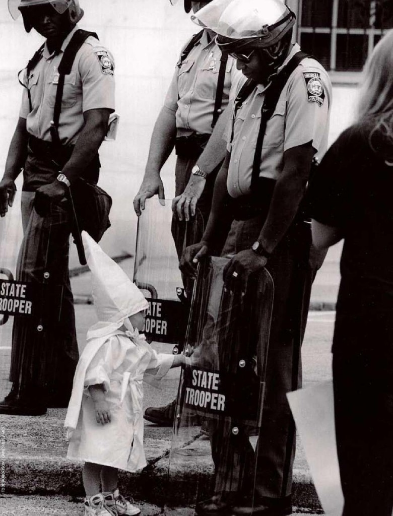 KKK child with state trooper